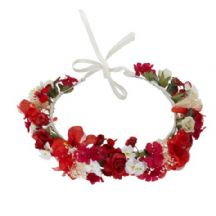 Flower girl red circlet head dress